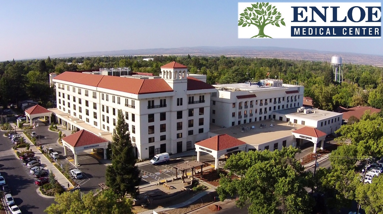 Exterior photo of the Enloe Medical Center Hospital