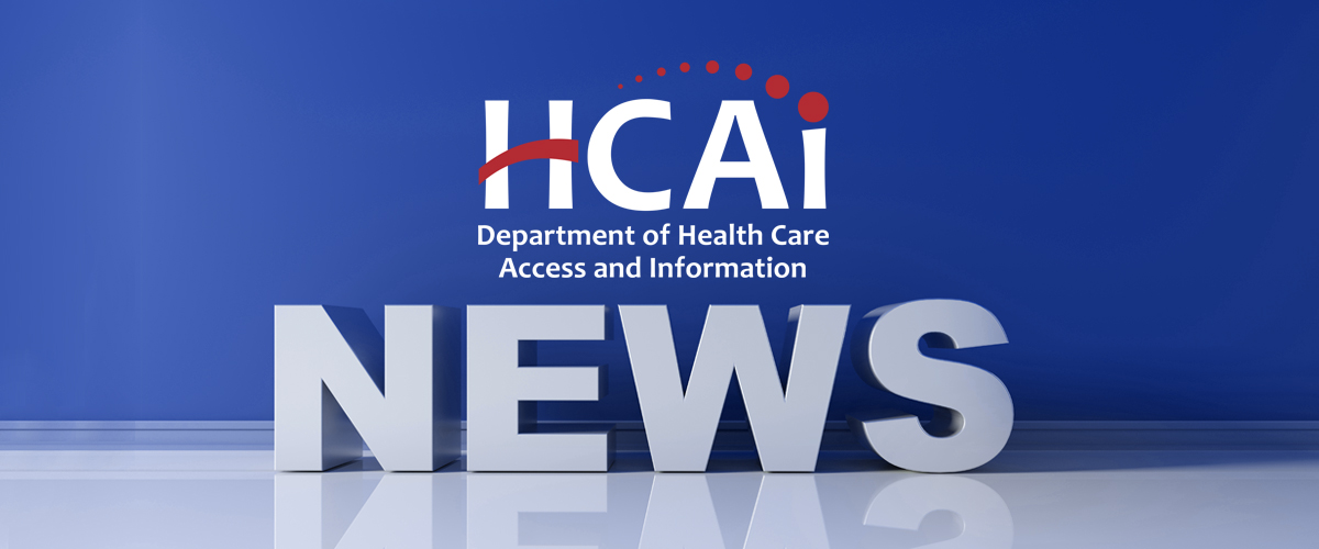 Graphic with blue background which features the HCAI logo and the word news underneath it.